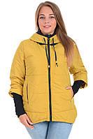 Куртка синтепон женская на утеплителе силикон 52 размер