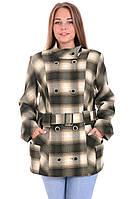 Пальто в клетку женское 52,54,56