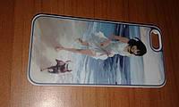 Чехол с рисунком iPhone 5 5s SE с девушкой на заднюю крышку бампер
