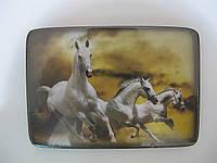 Картина на дощечке лошади, новогодний декор для дома и офиса