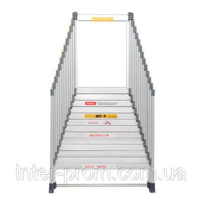 Лестница раздвижная 4.1 м (без чехла)