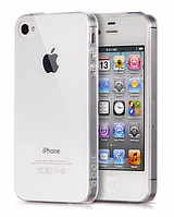 Чехол бампер для iphone 4 4S прозрачный