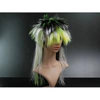 Парик карнавальный зелено черный