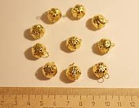 Бубенчик ажурный золото 706 поштучно, фото 1