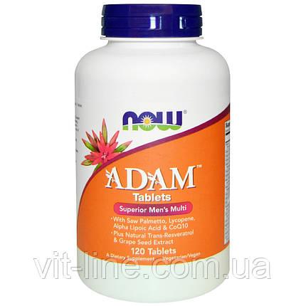 Adam-мультивитамины для мужчин от Now Foods (120 таблеток), фото 2