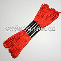 Нитки мулине  Interbird, цвет красный, 1 моток, 8 м