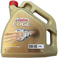 Масло моторное синтетическое Castrol EDGE A3/B4 Titanium 0W-40 4л.