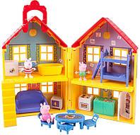 Переносной домик свинки Пеппы 3 фигурки и 14 предметов Peppa Pig Deluxe House Оригинал из США!
