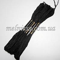 Нитки мулине  Interbird, цвет черный, 1 моток, 8 м