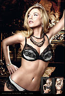 Бюстгалтер Black-White Bra With Striped Cups, 70А, 70В, 70С, 75В, 75С, 75D, 80B, 80C, 80D