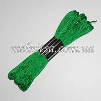 Нитки мулине  Interbird, цвет зеленый, 1 моток, 8 м