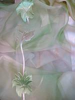 Тюль гардина органза JS -2 салатовая