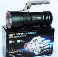 Фонарь прожектор светодиодный Poliсe T802-XPE ZOOM, переносной ручной фонарь