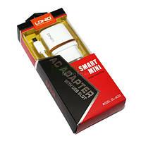 Сетевое зарядное устройство LDNIO, White, 1xUSB, 1A, кабель USB <-> microUSB