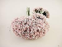 Пупыришки Розовые для рукоделия на зеленой проволоке