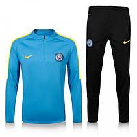 Спортивный костюм Nike, Манчестер Сити (голубой). Футбольный, тренировочный. Сезон 16/17