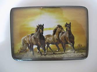 Картина на дереве, лошадь, символ года, отличный подарок