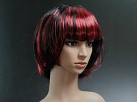 Карнавальный парик черно красный