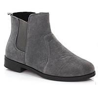 Ботинки женские, серого цвета