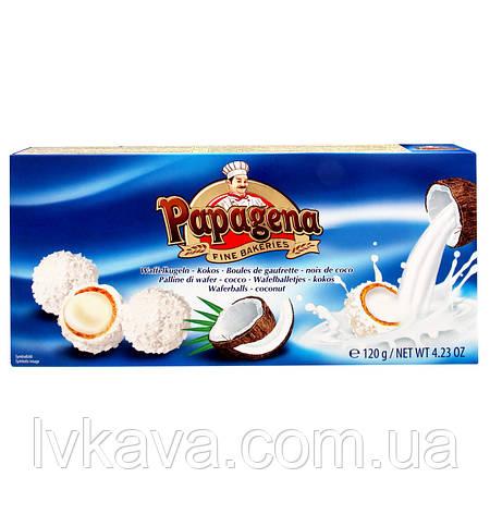 Вафельные конфеты Waferballs with kokos  Papagena, 120 гр, фото 2