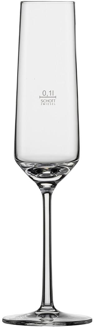 Бокал для шампанского 0,1l с градуировочной отметкой Schott Zwiesel Pure 112747