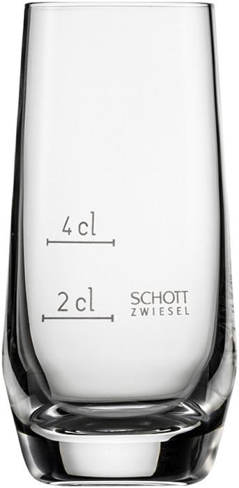 Стопка 2+4 cl с градуировочной отметкой Schott Zwiesel Pure 113291