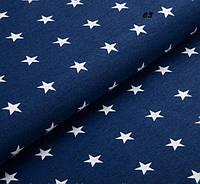 Бязь со звездами на синем