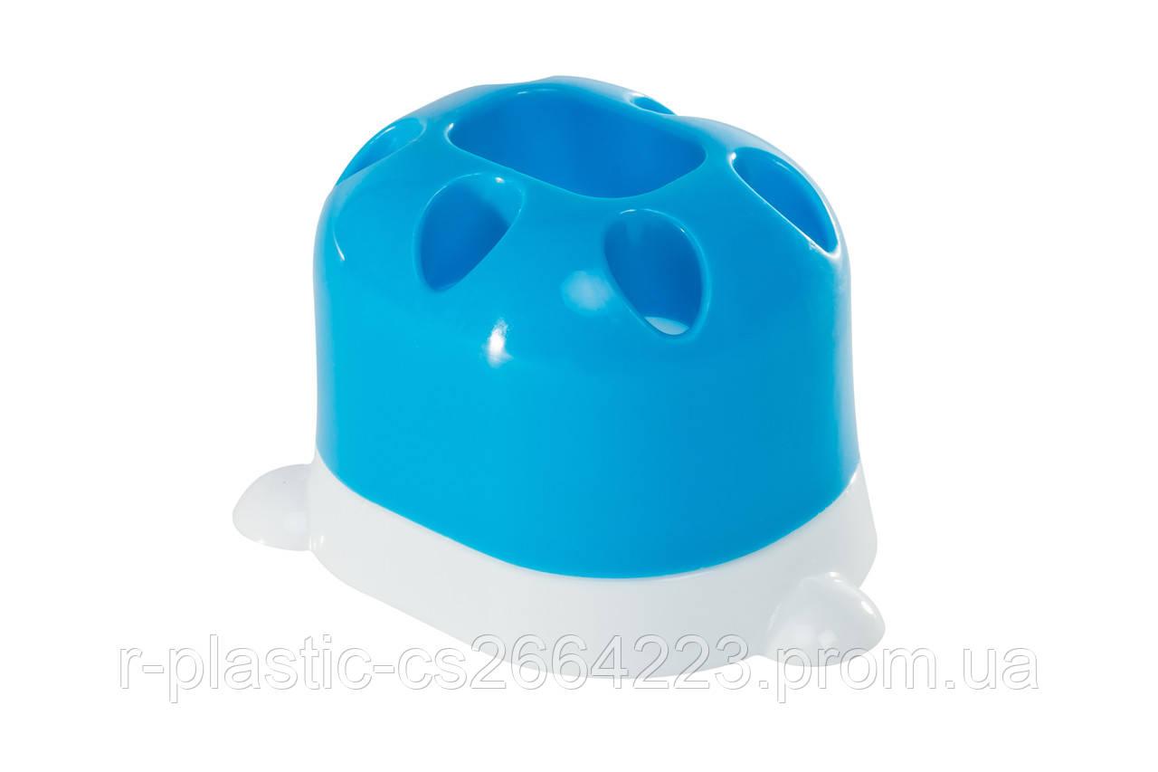 """Підставка для зубних щіток R-Plastic """"Лапка"""" синя"""