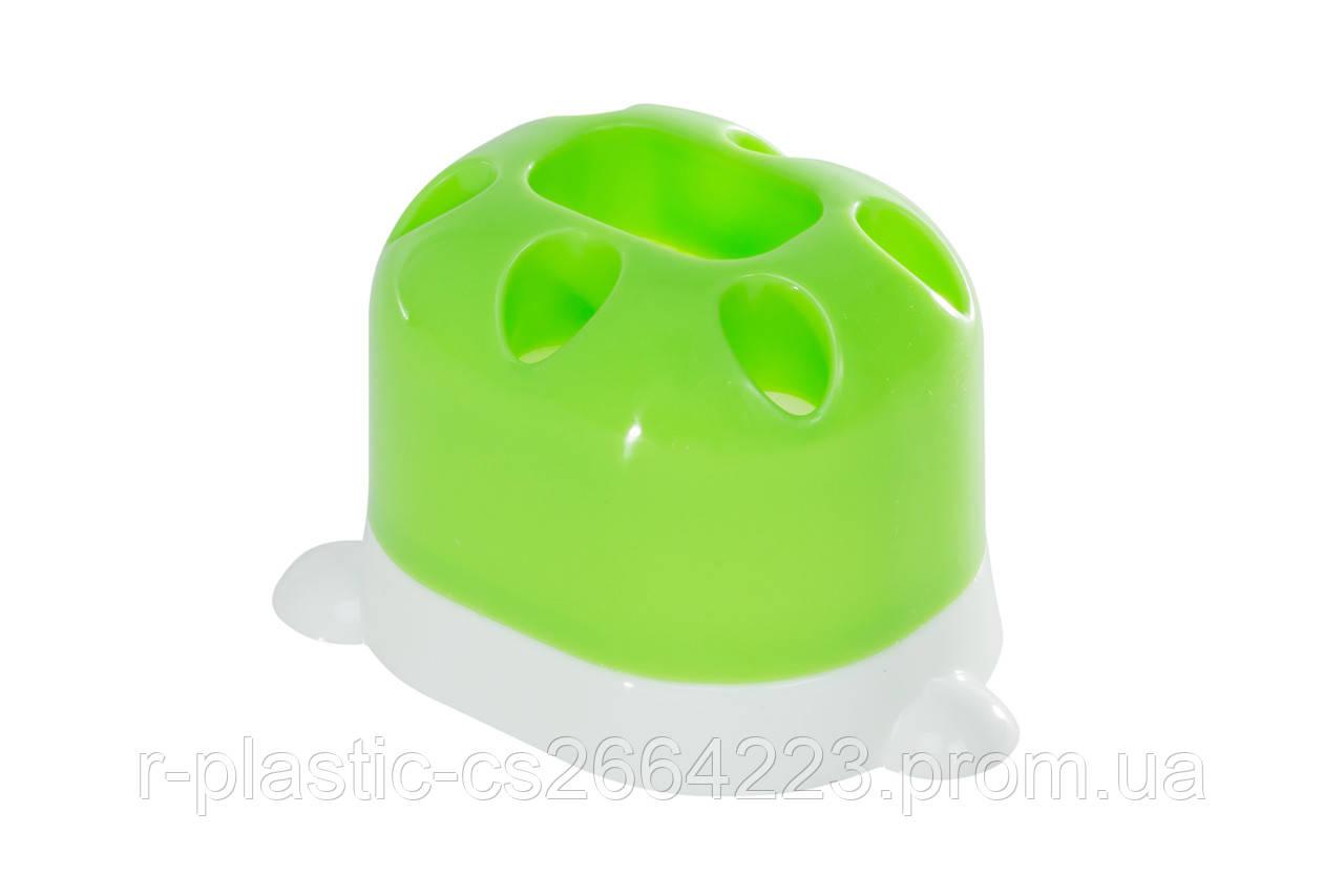 "Подставка для зубных щеток R-Plastic ""Лапка"" салатовая"