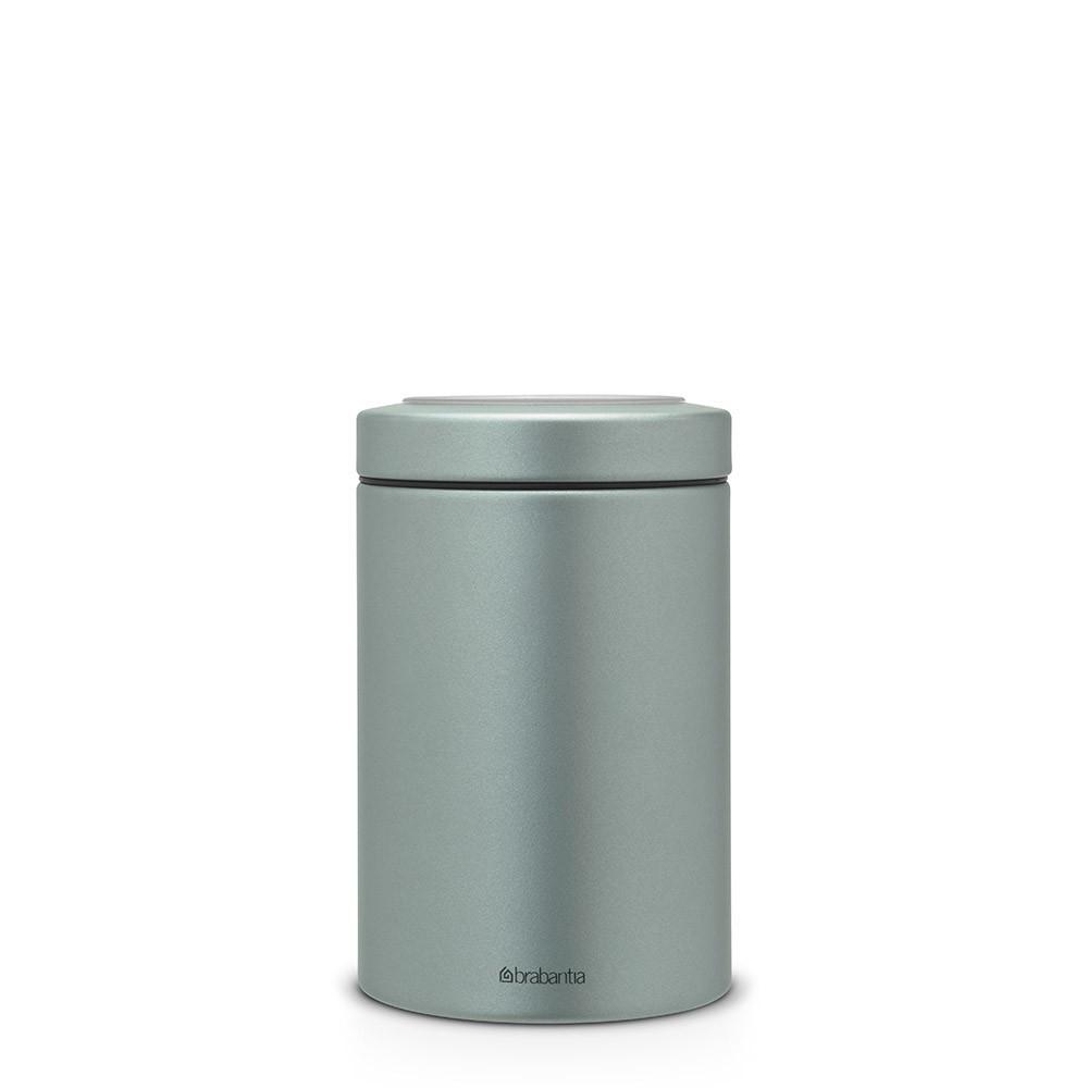 Контейнер с прозрачной крышкой 1,4л Metallic Mint Brabantia 484346