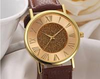 Женские часы с ремешком коричневого цвета (144)