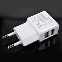 USB зарядное устройство для телефонов и планшетов - 2 разъема USB