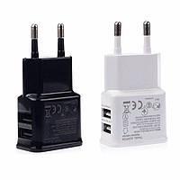 USB зарядний пристрій для телефонів і планшетів - 2 роз'єми USB