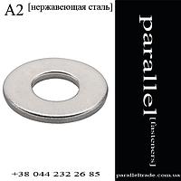 Шайба плоская увеличенная Ø10 DIN9021 нержавеющая сталь А2