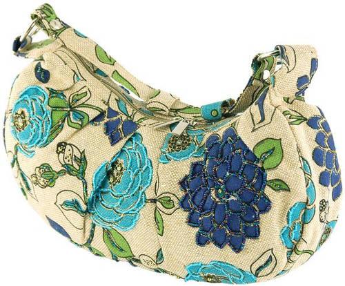 Красивая женская сумка из текстиля Traum 7216-02, синий