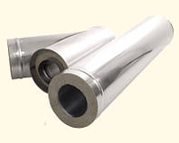 Труба термо из оцин. стали Ø130, длина 1,0 м