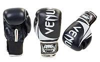 Перчатки боксерские кожаные на липучке VENUM р 12