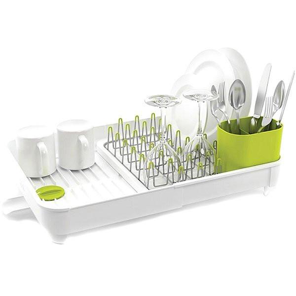 Cушилка для посуды со сливом Extend-Expandable Белая Joseph Joseph 85071