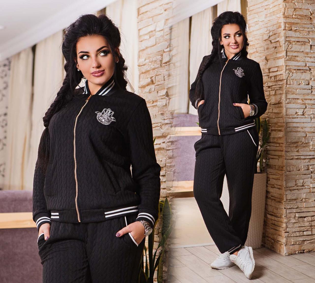 3751323280e7 Женский стильный спортивный костюм в больших размерах 1090