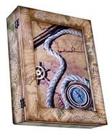Деревянная ключница на стену в морском стиле