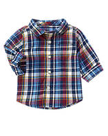 "Рубашка для мальчика Gymboree ""Клетка"" р.18-24М"