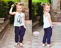 Синие легкие брюки для девочки из новой коллекции Baby Angel р-ры 92,98
