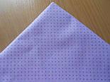 """Лоскут ткани №258а  с сиреневыми точками на сиреневом фоне """"Шпильки"""", фото 2"""