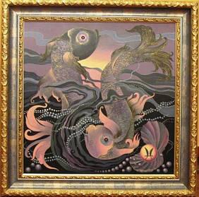 Картина Знаки зодиака Рыбы Химич Лариса