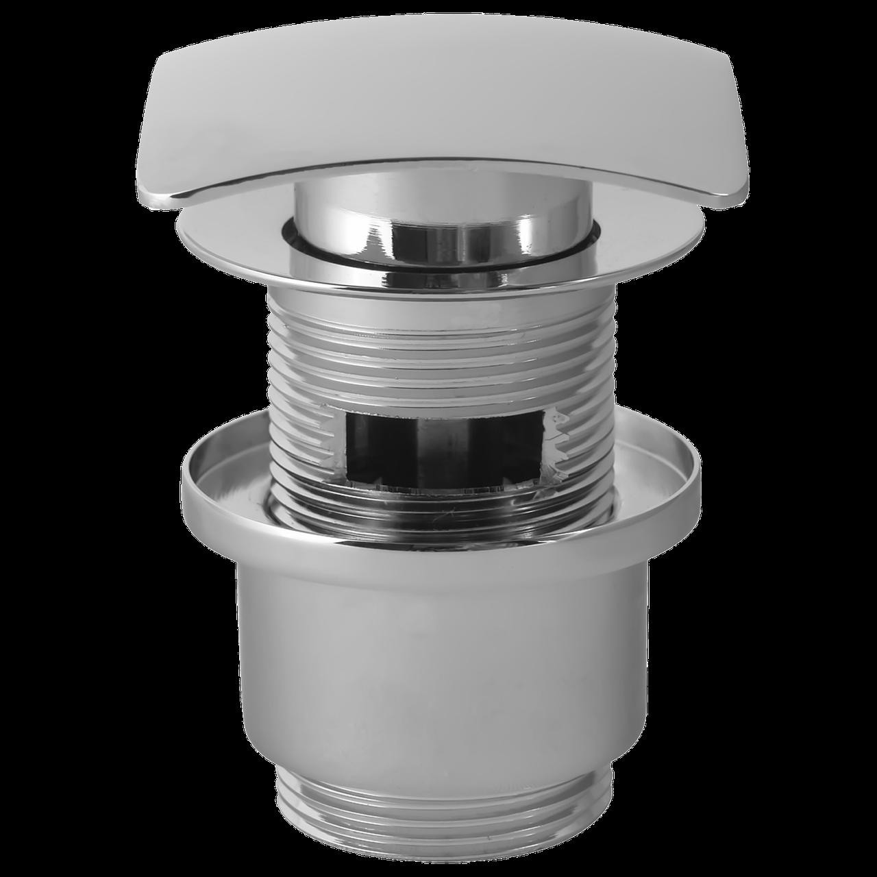 Пробка - сифон Click Clack с переливом (квадратный, 75 мм, хром )