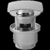 Пробка - сифон Click Clack с переливом (квадратный, 75 мм, хром ), фото 1