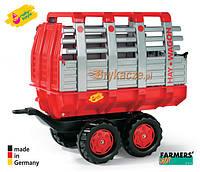 Прицеп красный Rolly Toys 122820