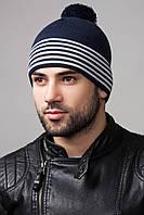 Стильная мужская шапка Tyler Flip, т.синий/лед