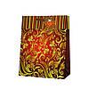 Пакет подарунковий орнамент червоний
