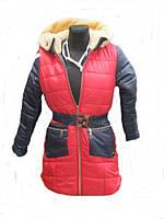 Подростковая детская куртка на овчине